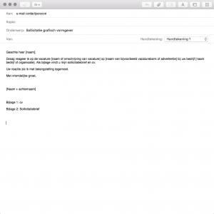 begeleidende mail bij open sollicitatie Een ijzersterke sollicitatiebrief schrijven | Stappenplan met